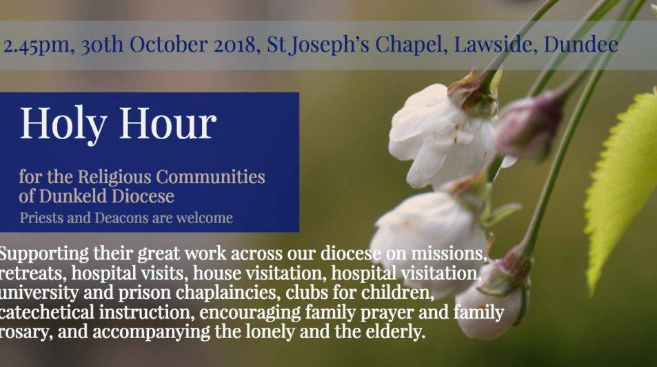 Holy Hour for Religious Communities in our diocese