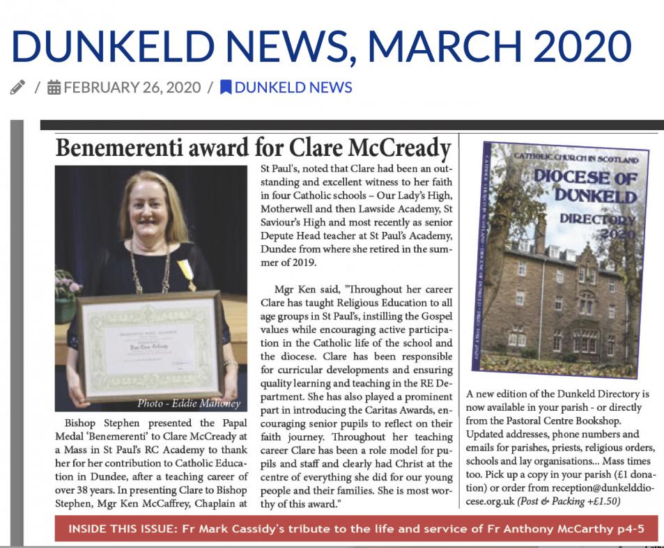 Dunkeld News
