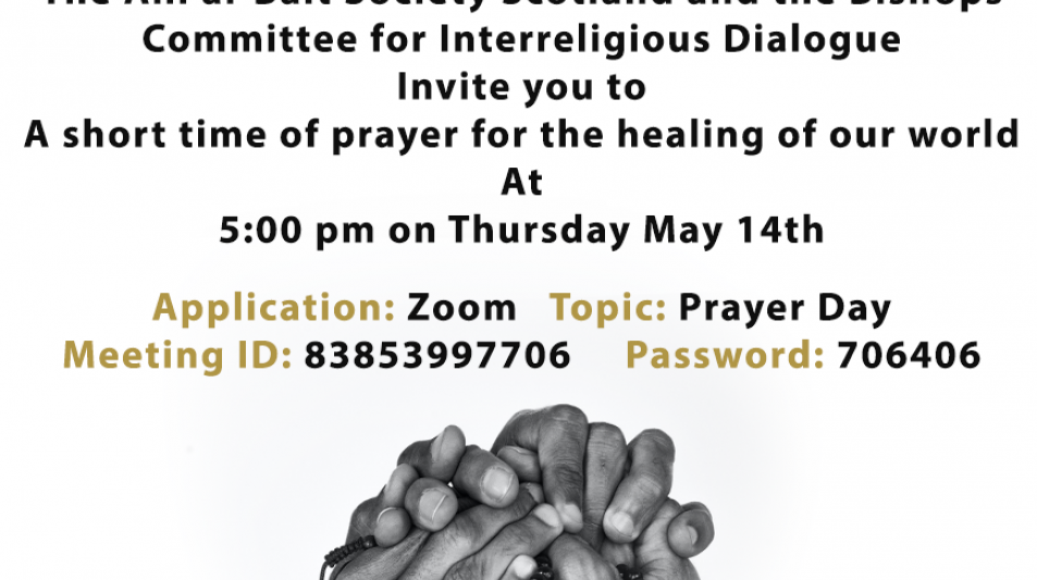 Interfaith meeting using Zoom - 5pm Thursday 14th May