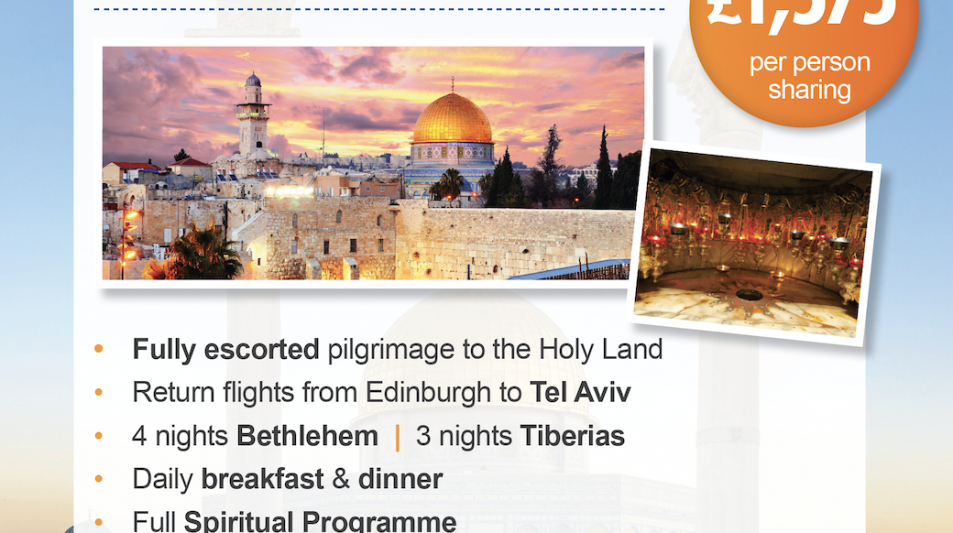 Diocesan Pilgrimage to the Holy Land is planned for 2021