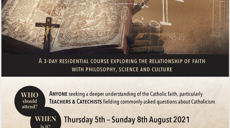 Residential summer course invitation for teachers and catechists at Stoneyhurst