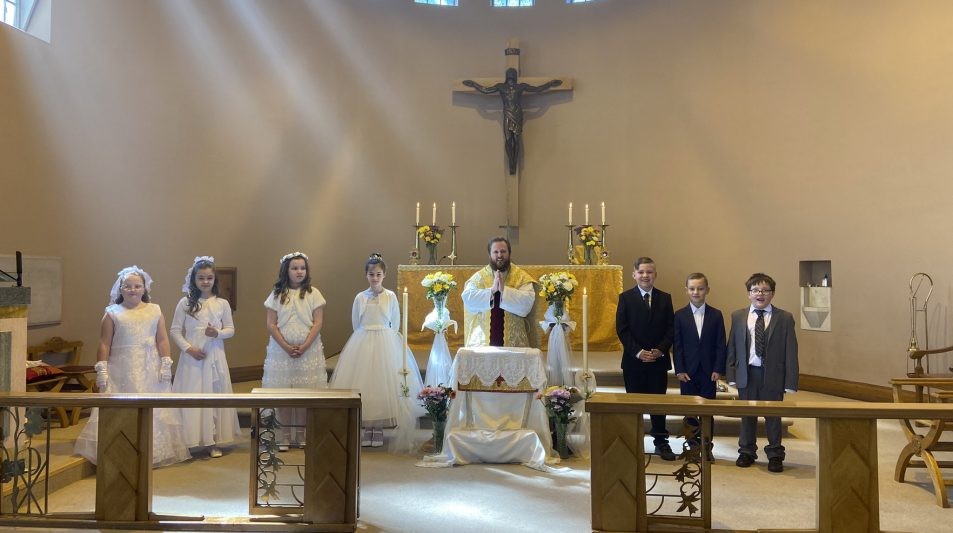First Communion at St Pius X, Dundee
